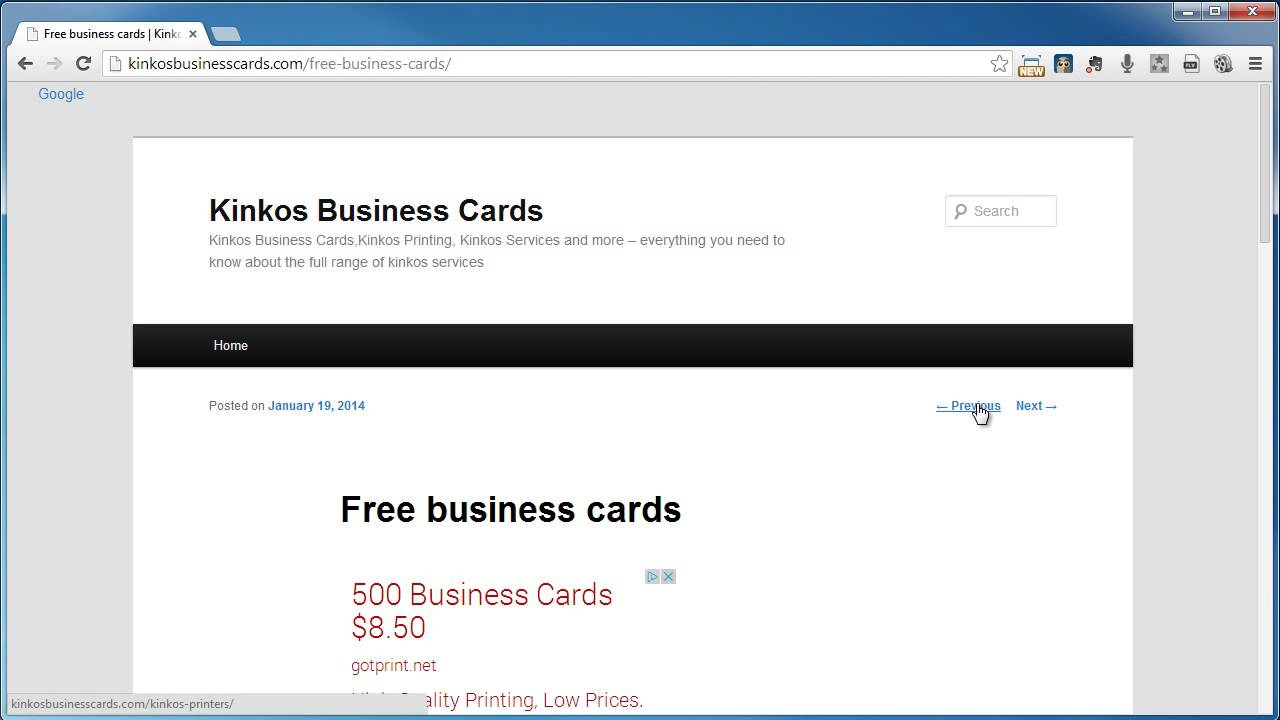 Kinkos Business Cards - YouTube