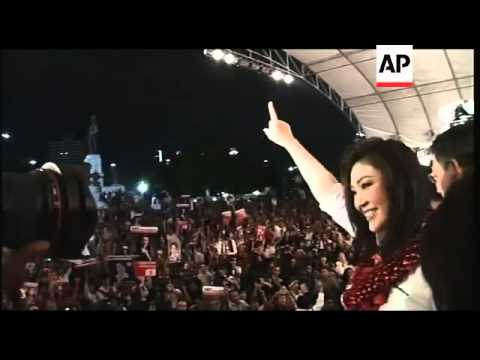 Yingluck Shinawatra, sister of former prime minister, holds first major rally