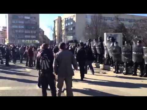 Protests in Sarajevo - riot police