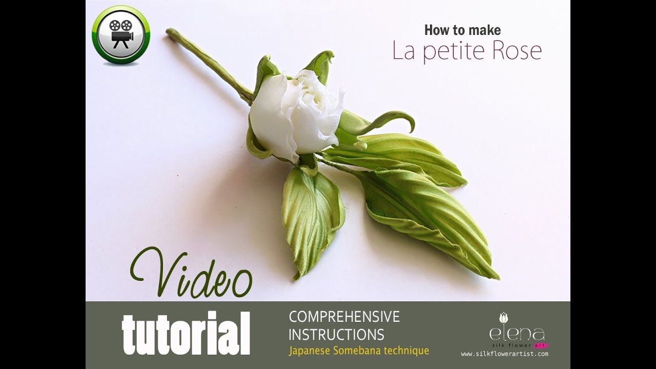 How No Make Silk Flowers La Petite Rose Youtube