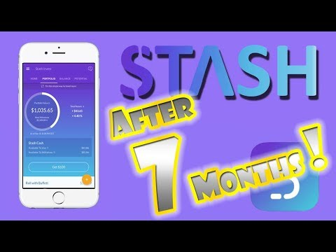 $1,000 STASH INVEST APP Performance | 7 Month REVIEW!