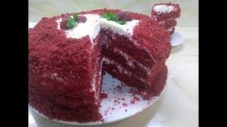 """Торт """"Красный бархат """" шикарный и очень вкусный рецепт!"""