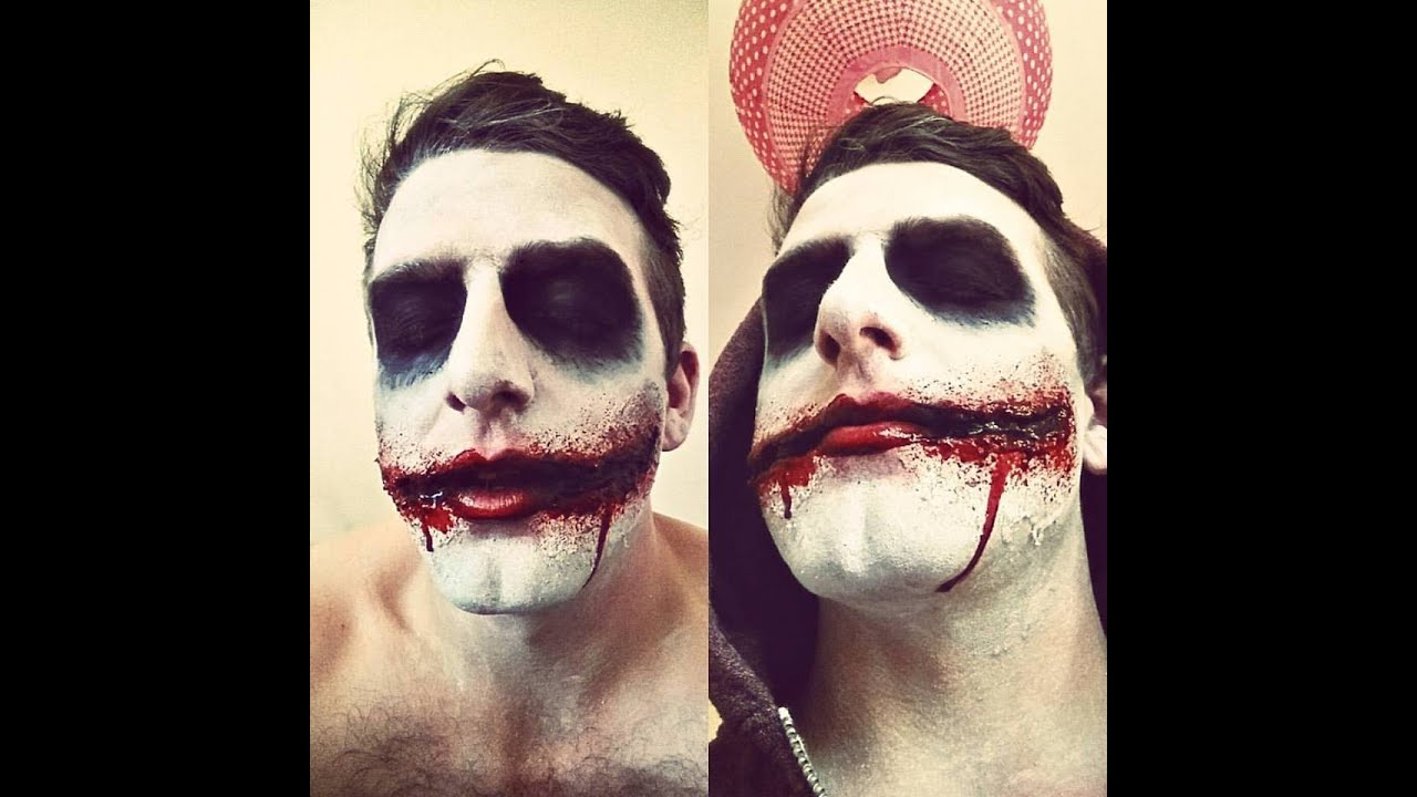Heath Ledger Joker inspired SFX makeup | Chelsea smile SFX - YouTube