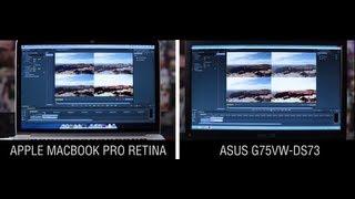 Macbook Pro Retina vs ASUS G75VW-DS73: Premiere CS6 Speed Test!