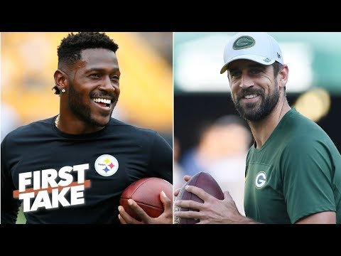 Antonio Brown and Aaron Rodgers would be happy together on the Packers – Stephen A. | First Take