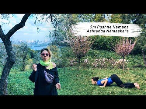 shanti people  surya namaskar  mantra  asana 6  om