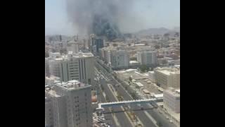 حريق هائل في فندق بمكة المكرمة 17-7-2016
