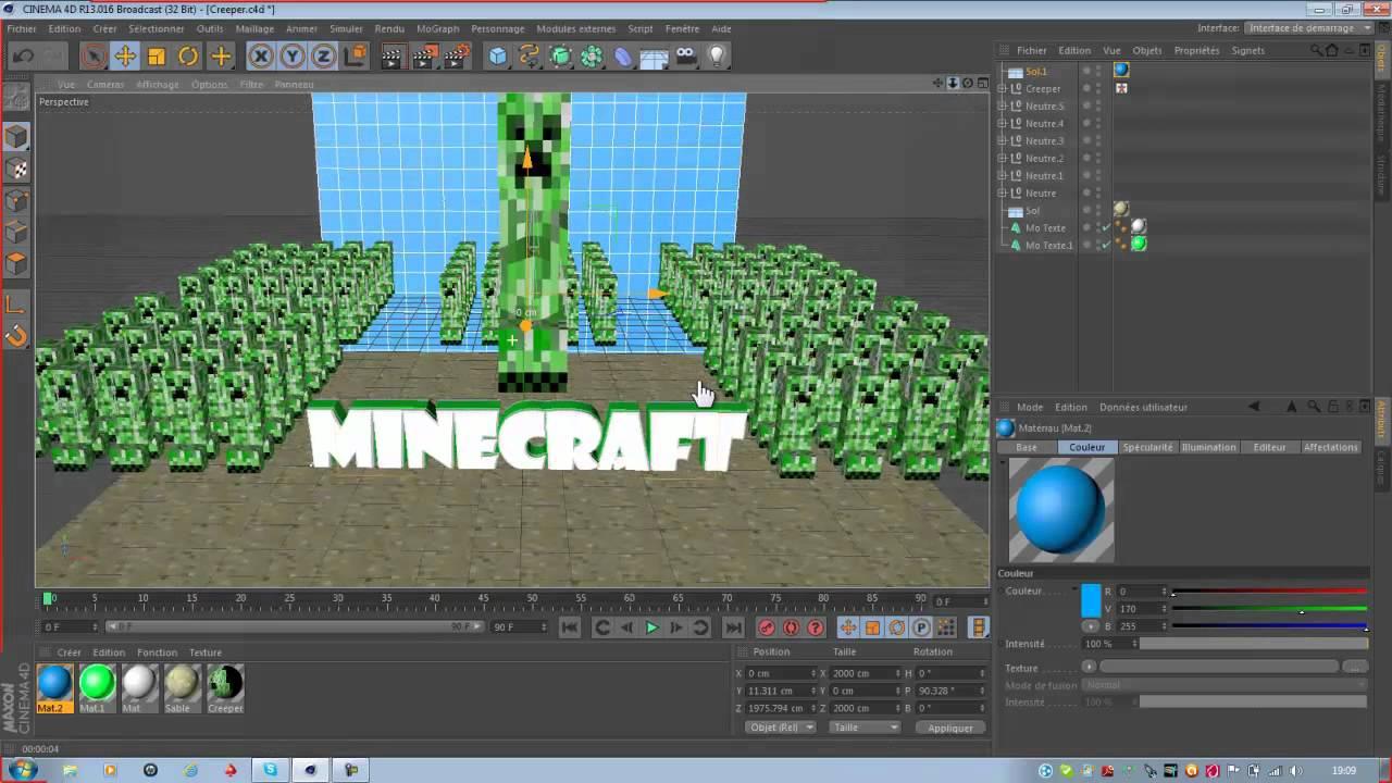 [TuTo] comment faire un fond d'ecran minecraft - YouTube - Fond D'ecran Minecraft