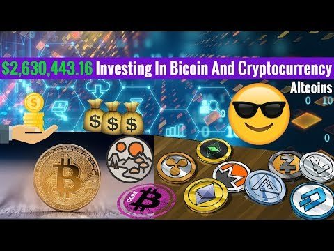 $2,630,443.16 Investing In Bicoin And Cryptocurrency Altcoins