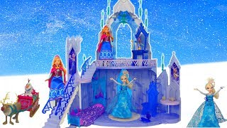 Frozen Elsa & Anna Dolls Unboxing: Ice Palace Princess Dollhouse, Olaf, Bedroom & Disney Doll Toys