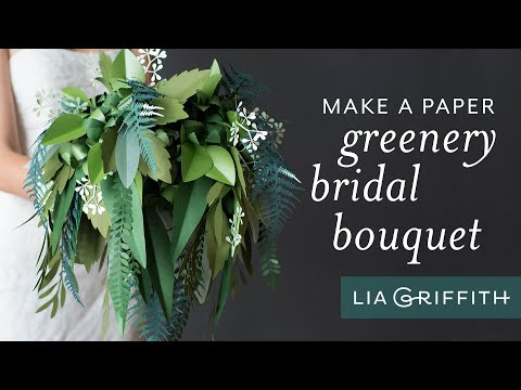 How To Make a Beautiful Paper Wedding Bouquet Using Greenery