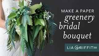 Paper Greenery Wedding Bouquet