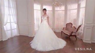 Пышное свадебное платье с шлейфом от VESILNA™ модель 3023