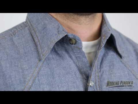 Key Shirts: Men's Blue Cotton 5017 45 Chambray Long Sleeve Western Shirt