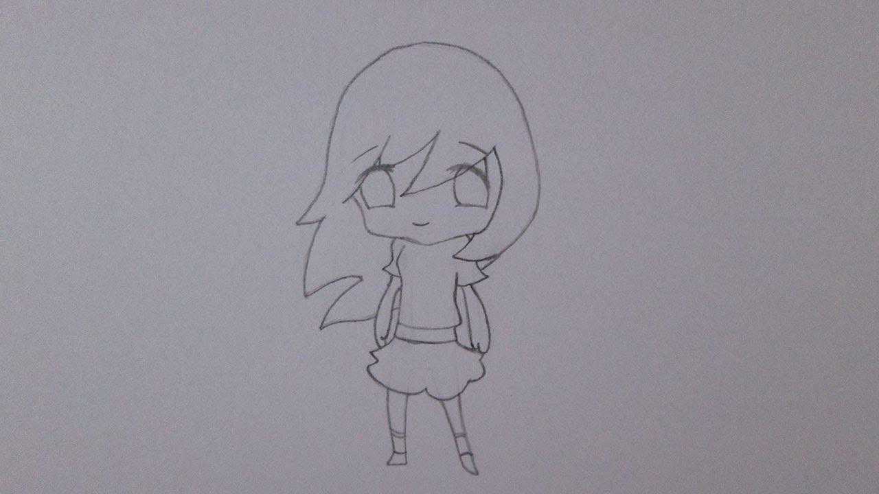 Como desenhar uma garota simples