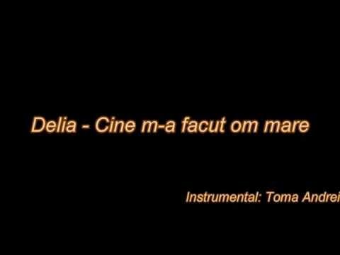 Delia - Cine m-a facut om mare (Karaoke)