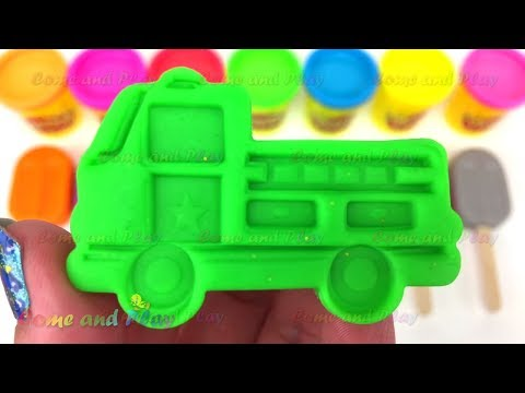Learn Colors with Play Doh and Cookie Cutters and Surprise Toys