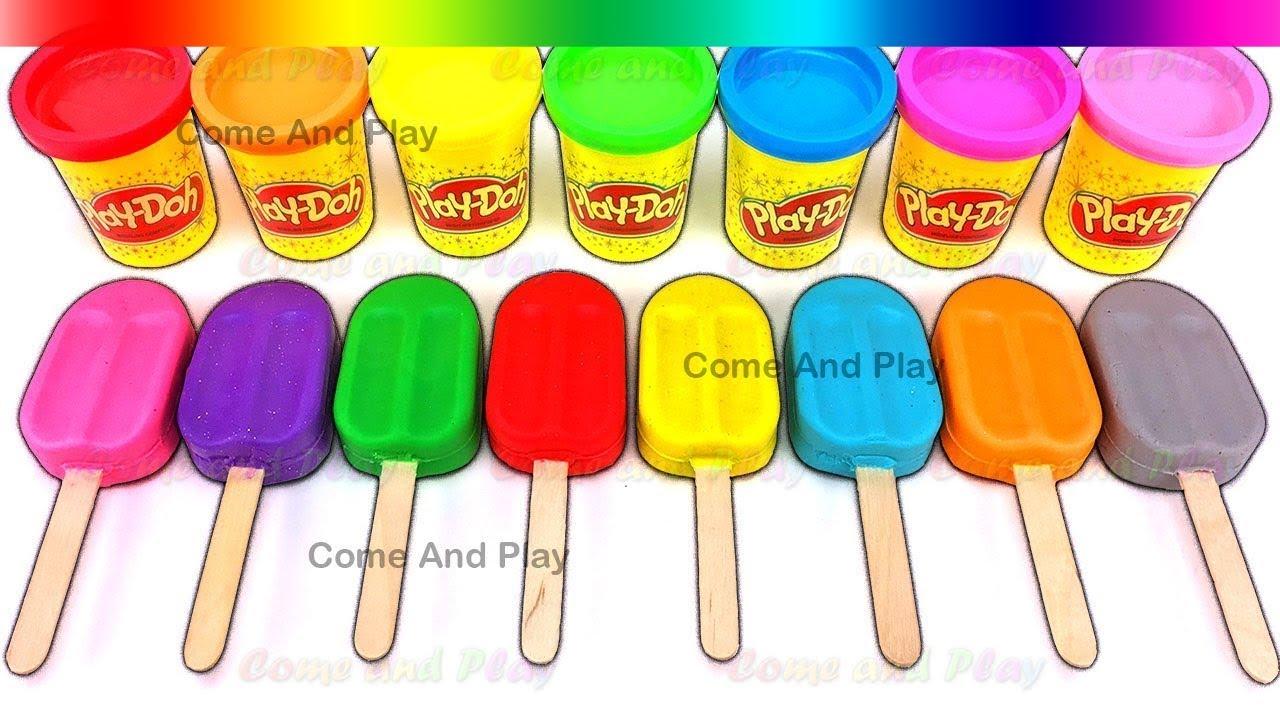 Lernen Farben Spielen Doh Eis Am Stiel Disney Superhero Prinzessin ...