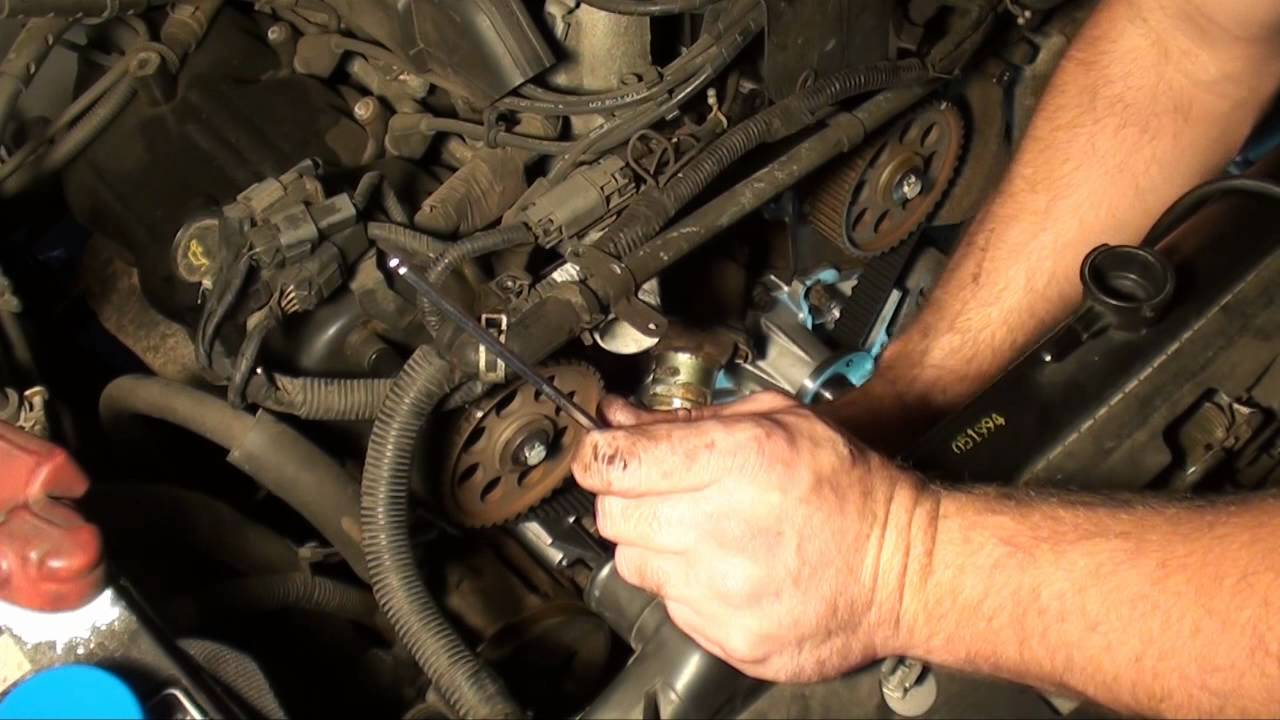 nissan 3 0 v6 timing belt, water pump and thermostat - youtube