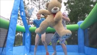 Bouncy Castle with Two Diaper Boys at TOMKAT!!!