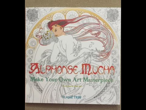 Alphonse Mucha - Make Your Own Masterpiece flip through - YouTube