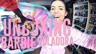 UNBOXING BARBIE VOLADORA | Andrea Compton ft Herre