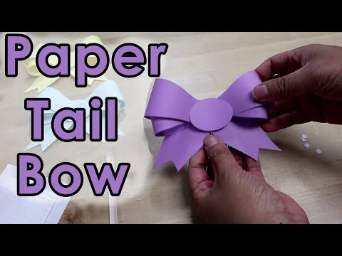 [Tutorial + Template] *Free* Easy To Make Paper Tail Bow With Step by Step Template