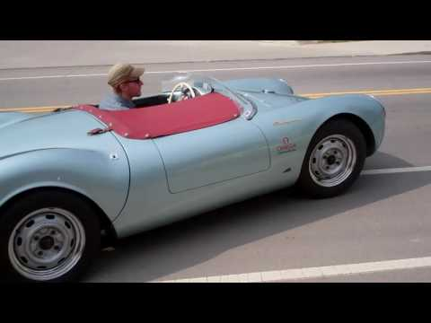 Porsche 550 Spyder leaving Fuel Cars & Coffee 5/28/16