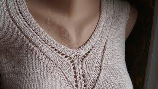 Как оформить горловину при вязании.