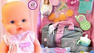 Bolso de mamá NENUCO - Nos vamos de paseo con la bebé