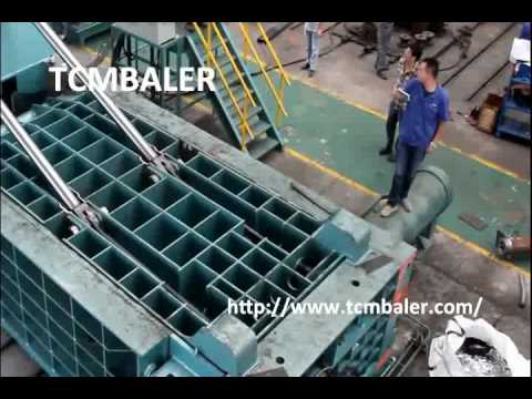 TCM BALER- scrap iron baler press machine Belgium  China  Malaysia