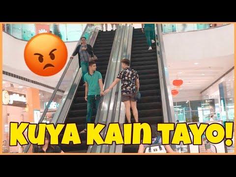HOLDING HANDS on ESCALATOR PRANK | Tara! San tayo kuya?