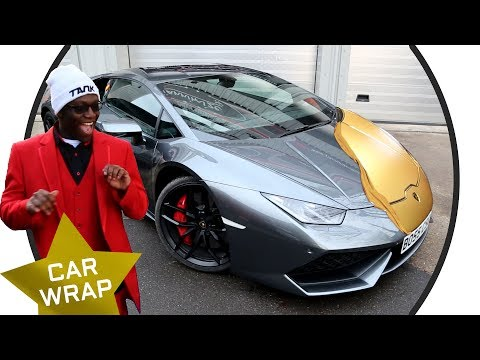 Comedy Shorts Gamer's EPIC Lamborghini Huracan Chrome Gold Wrap