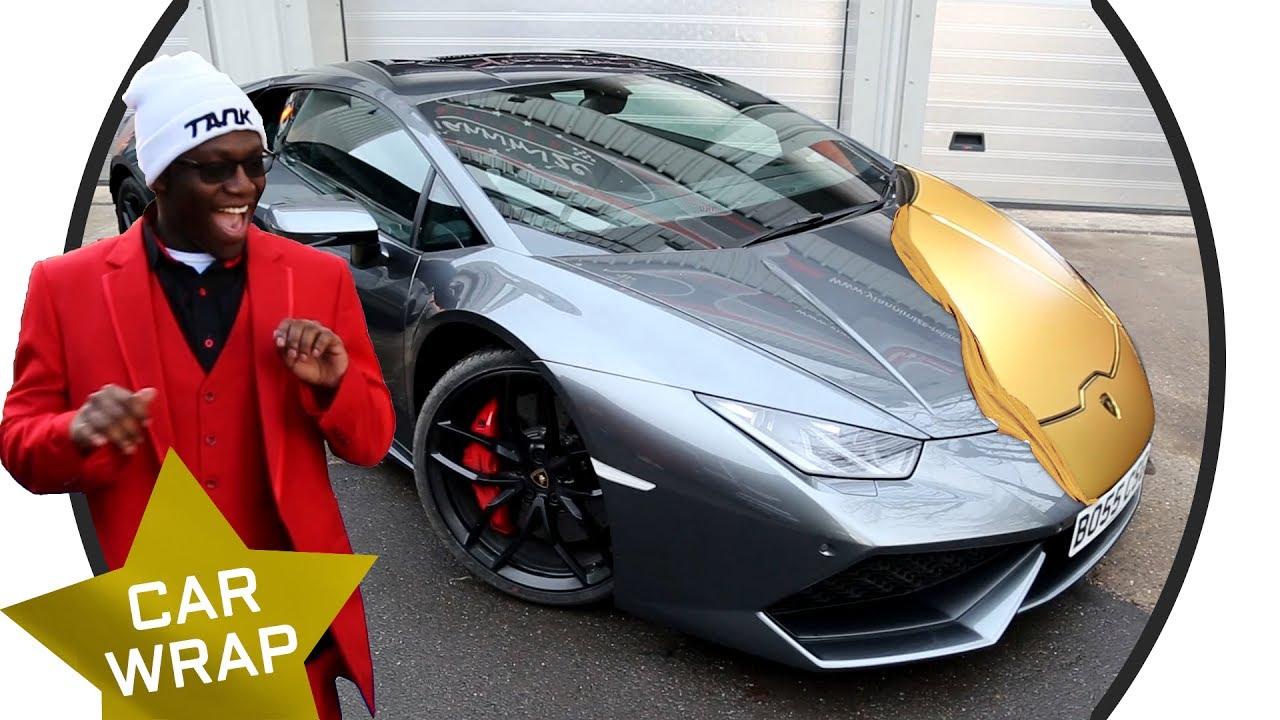 Comedy Shorts Gamer's EPIC Lamborghini Huracan Chrome Gold Wrap