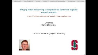 CS224u - Learning compositional semantics: concepts