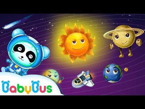 Baby Panda Learns Solar System | Baby Panda Astronaut | Learn Planet | BabyBus