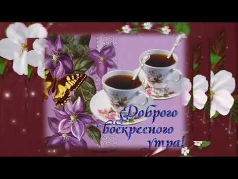 Доброе воскресное утро! С воскресным утром! Хорошего дня. Музыкальное поздравление.