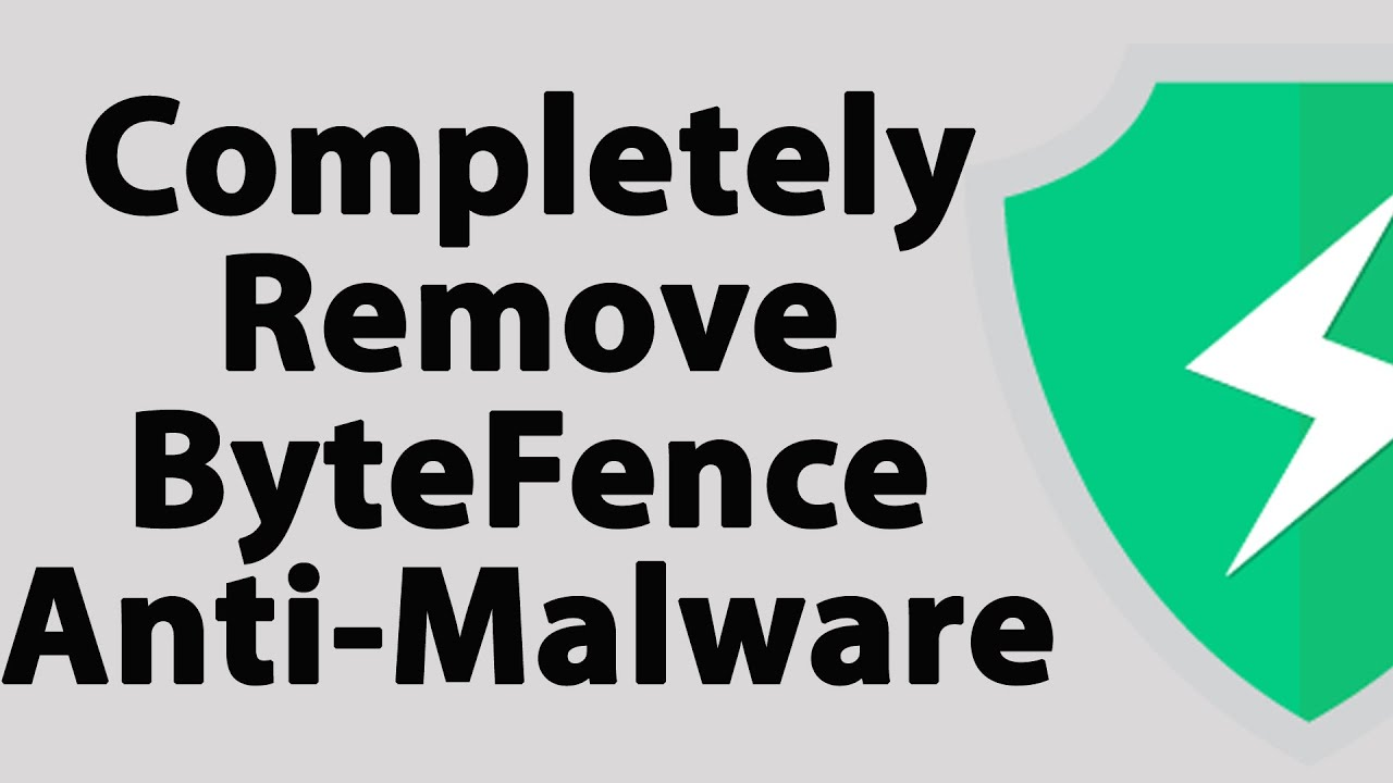 How To Completely Remove ByteFence Antimalware - YouTube