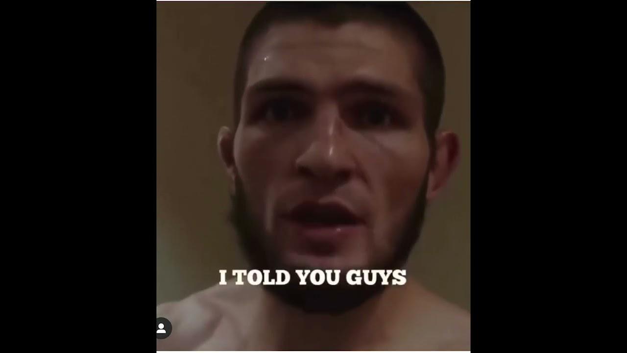 хабиб Нурмагомедов-слова после победы над конором