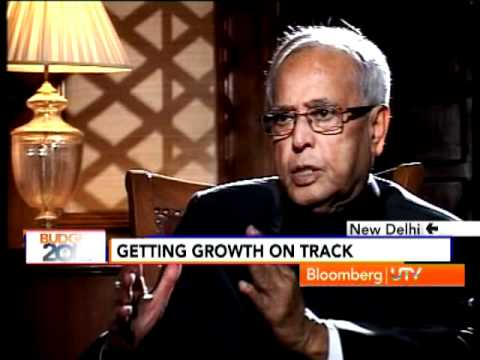 Bloomberg UTV Exclusive: Finance Minister Pranab Mukherjee Interview