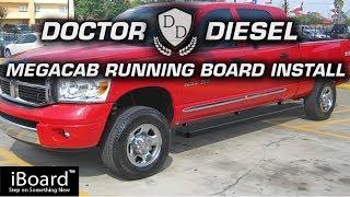 MegaCab iBoard Auto Running Board Installation for 2006-2008 RAM Trucks