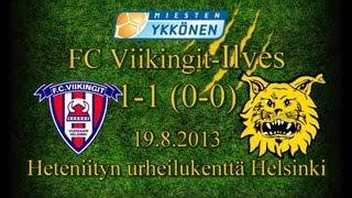 FC Viikingit-Ilves 1-1 (0-0) 19.8.2013 miesten Ykkönen maalikooste