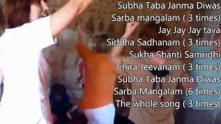 Devoted French People Learning Sanskrit Birthday Song