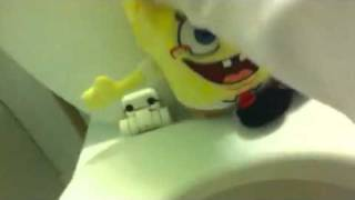 Mario teaches spongebob how to go potty