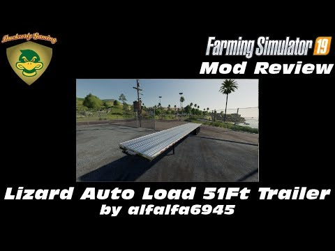 FS19 - Mod Review - Lizard 51ft Autoload Flatbed Trailer - alfalfa6945 - 4K