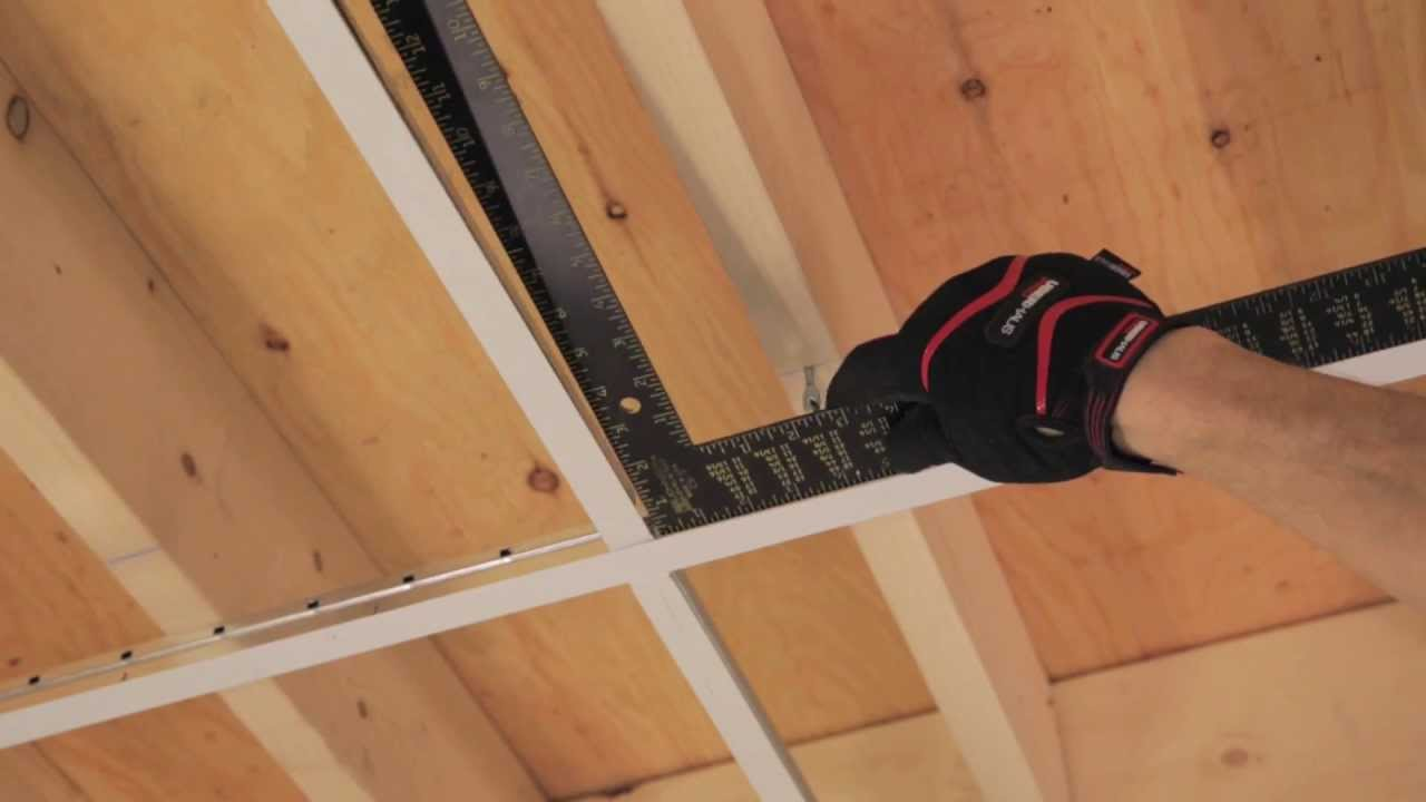 RONA How To Install Suspended Ceiling YouTube - Ceiling tile repair kit
