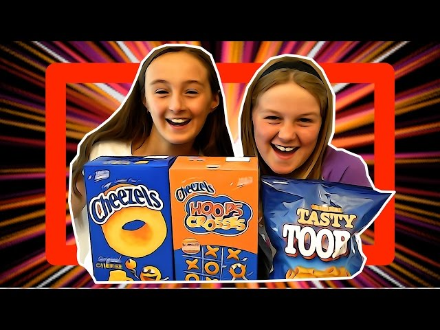 Australian Girls TASTE TEST Cheezels, Crosses and Zeros, Toobs