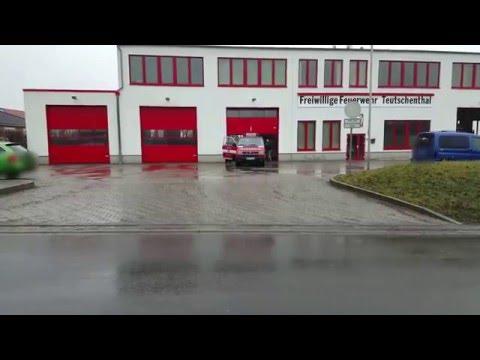 Brandeinsatz ELW+ LF 86+ DLK FF Teutschenthal