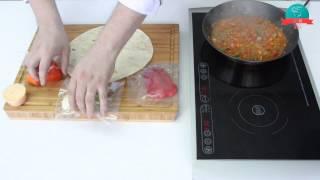 Тортильяс с мясной начинкой