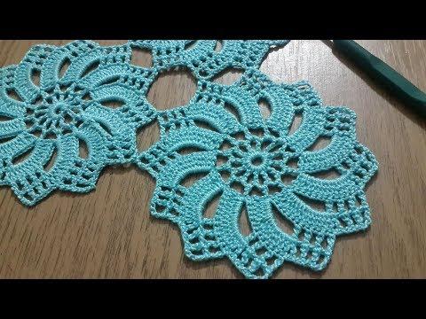 Tığişi Örgü Dantel Motifi Yapımı, Çarkıfelek Modeli & Crochet